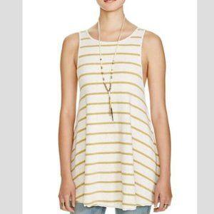FREE PEOPLE Garden Sleeveless Striped Tunic - XS,S